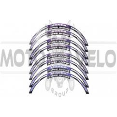 Наклейка на колесо 17 Honda (фиолетовая, светоотражающая)