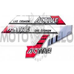 Наклейки (набор) ACIVE (серо-красные) (#2493)