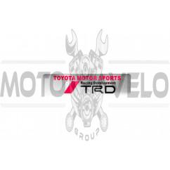 Наклейка логотип TRD (14x3.5см, серебро) (#4988)