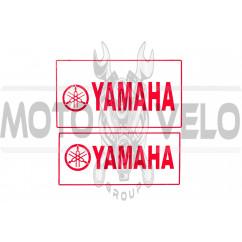 Наклейка декор YAMAHA (22.7x12.6см, красная) (#4299B)