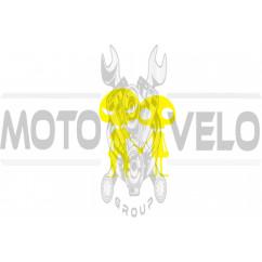 Наклейка декор SKELETON (11х10м, желтая) (#HQ684)
