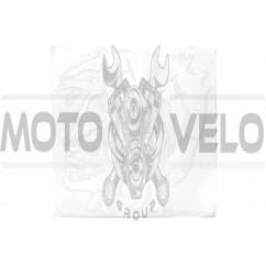 Наклейка декор IROKEZ (12x13см, белая) (#HQ655)