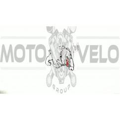 Наклейка   декор   DOG   (12x9cм, черно-красная, правая)   (#HQ007B-RR)