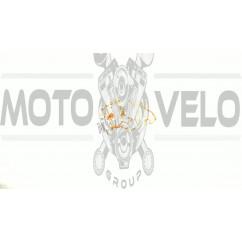 Наклейка   декор   DOG   (12x9cм, красная, левая)   (#HQ007RL)