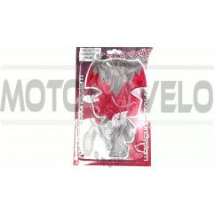 Наклейка на бак   MOTOSTAR   (силикон, красная)   (#5010)