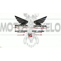 Наклейка   логотип   (Honda  10x10см,черная)