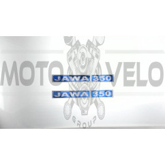 Наклейка   логотип (светоотражающая)   JAWA 350   (синяя)   (#SEA1)