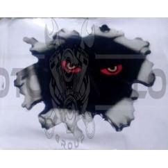 Наклейка   декор   Eyes   (8х6см, силикон)   (#SEA)