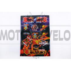 Наклейки (набор) Suzuki FLAME (33х22см) (#SEA)