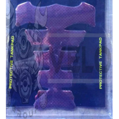 Наклейка на бак   YAKUZA   (силикон, карбон темно- красный)   (#5019)