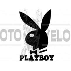 Наклейка   логотип   PLAYBOY   (16x11см, черная)   (#647)
