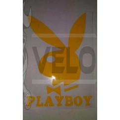 Наклейка   логотип   PLAYBOY   (16x11см, желтая)   (#647)