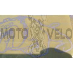 Наклейка   декор   DOG   (13x10cм, серебро, левая)   (#HQ007WL)