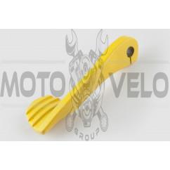 Ножка кикстартера универсальная (стайлинговая) (желтая) RIDE IT (mod:4)