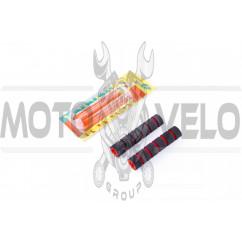 Грипсы (накладки на рычаги руля) (красные, поролон) KOMATCU