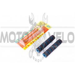 Грипсы (накладки на рычаги руля) (синие, поролон) KOMATCU