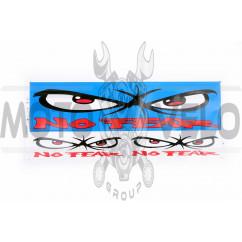 Наклейки (набор) логотип NO FEAR (34х14см, синие) (#0050)
