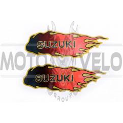 Наклейка декор, пламя SZK (19x5см) (#0332A)