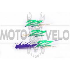 Наклейки (набор) Suzuki SEPIA ZZ (35х6см, 3шт, зеленые) (#0654)