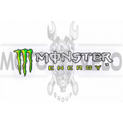 Наклейка логотип MONSTER ENERGY (26x7см) (#5533)