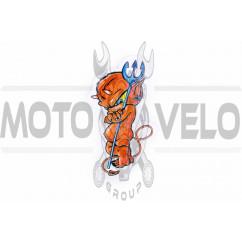 Наклейка декор DEVIL BOY (7x12см) (#5953)
