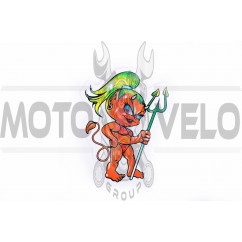 Наклейка декор DEVIL GIRL (8x10см) (#5961)