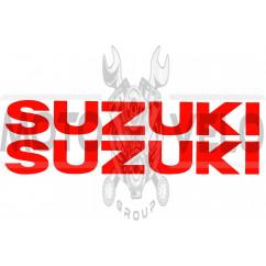 Наклейка буквы SUZUKI (19х5см, 2шт, красные) (#HCT10001)