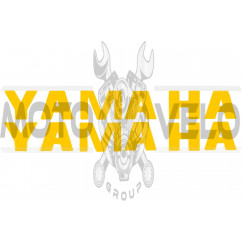 Наклейка буквы YAMAHA (19х5см, 2шт, желтые) (#HCT10005)