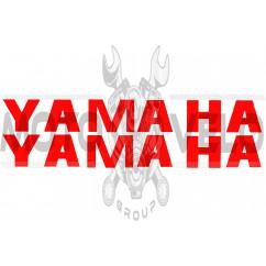 Наклейка буквы YAMAHA (19х5см, 2шт, красные) (#HCT10005)
