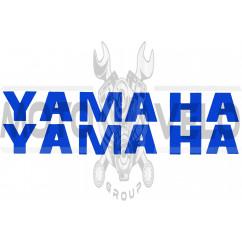 Наклейка буквы YAMAHA (19х5см, 2шт, синие) (#HCT10005)