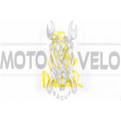Наклейка логотип DAKAR (9x11см, желтая) (#HCT20011)
