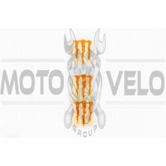 Наклейка логотип MONSTER ENERGY (5x6см, 3шт, оранжевая) (#HTC10103)