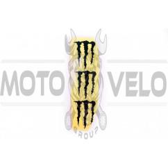 Наклейка логотип MONSTER ENERGY (5x6см, 3шт, черная) (#HTC10103)