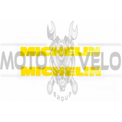 Наклейка логотип MICHELIN (13x2см, 2шт) (#0579)