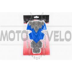 Наклейка на бак MOTOSTAR (силикон, синяя) (#5010)