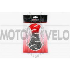Наклейка на бак MOTOSTAR (силикон, красная) (#5018)