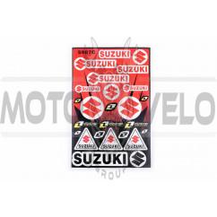 Наклейки (набор) спонсор SUZUKI (30х45см) (#5987C)