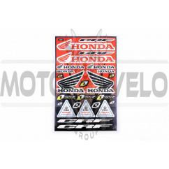 Наклейки (набор) спонсор Honda (30х45см) (#5987)