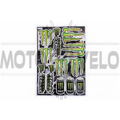 Наклейки (набор) спонсор MONSTER ENERGY (30х45см) (#5990A)