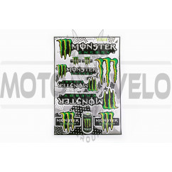 Наклейки (набор) спонсор MONSTER ENERGY (30х45см) (#5990C)
