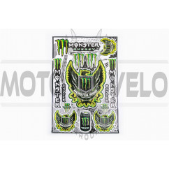 Наклейки (набор) спонсор MONSTER ENERGY (30х45см) (#5990D)