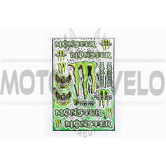 Наклейки (набор) спонсор MONSTER ENERGY (30х45см) (#5990E)