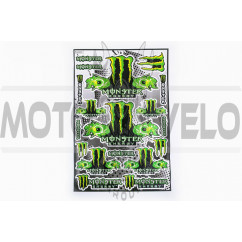 Наклейки (набор) спонсор MONSTER ENERGY (30х45см) (#5990F)