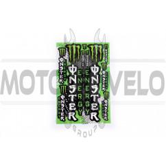 Наклейки (набор) спонсор MONSTER ENERGY (17х26см) (#7052)