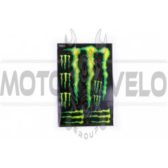 Наклейки (набор) спонсор MONSTER ENERGY (17х26см) (#7051)
