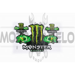 Наклейки (набор) спонсор MONSTER ENERGY (17х26см) (#7053)