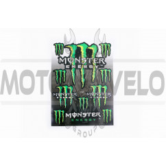 Наклейки (набор) спонсор MONSTER ENERGY (23х32см) (#7055)