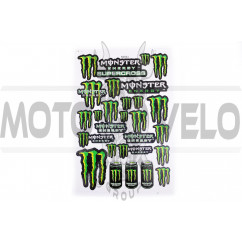 Наклейки (набор) спонсор MONSTER ENERGY (30х45см) (#5989J)