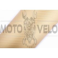 Пленка виниловая карбон 3D (1,27м*1м погонный, золотистый) (#04)