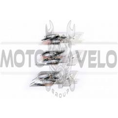 Наклейки (набор) шильдики Honda DIO Z4 (12х3см, 3шт, пластик, хром) (#4975)